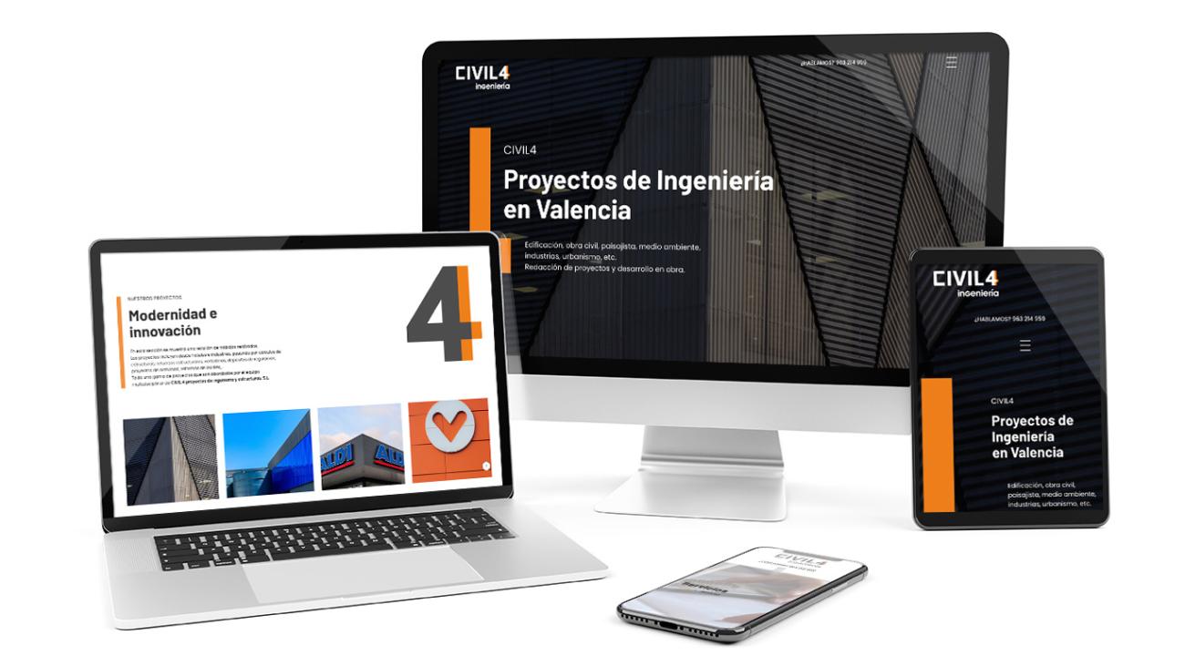 La nueva web de Civil4 en diferentes dispositivos